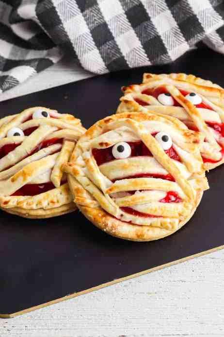 Mummy pies as cheap Halloween treats
