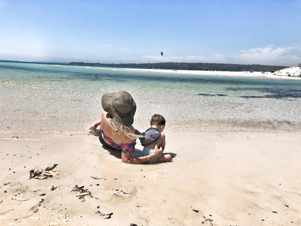 On Holiday at Beach with Baby