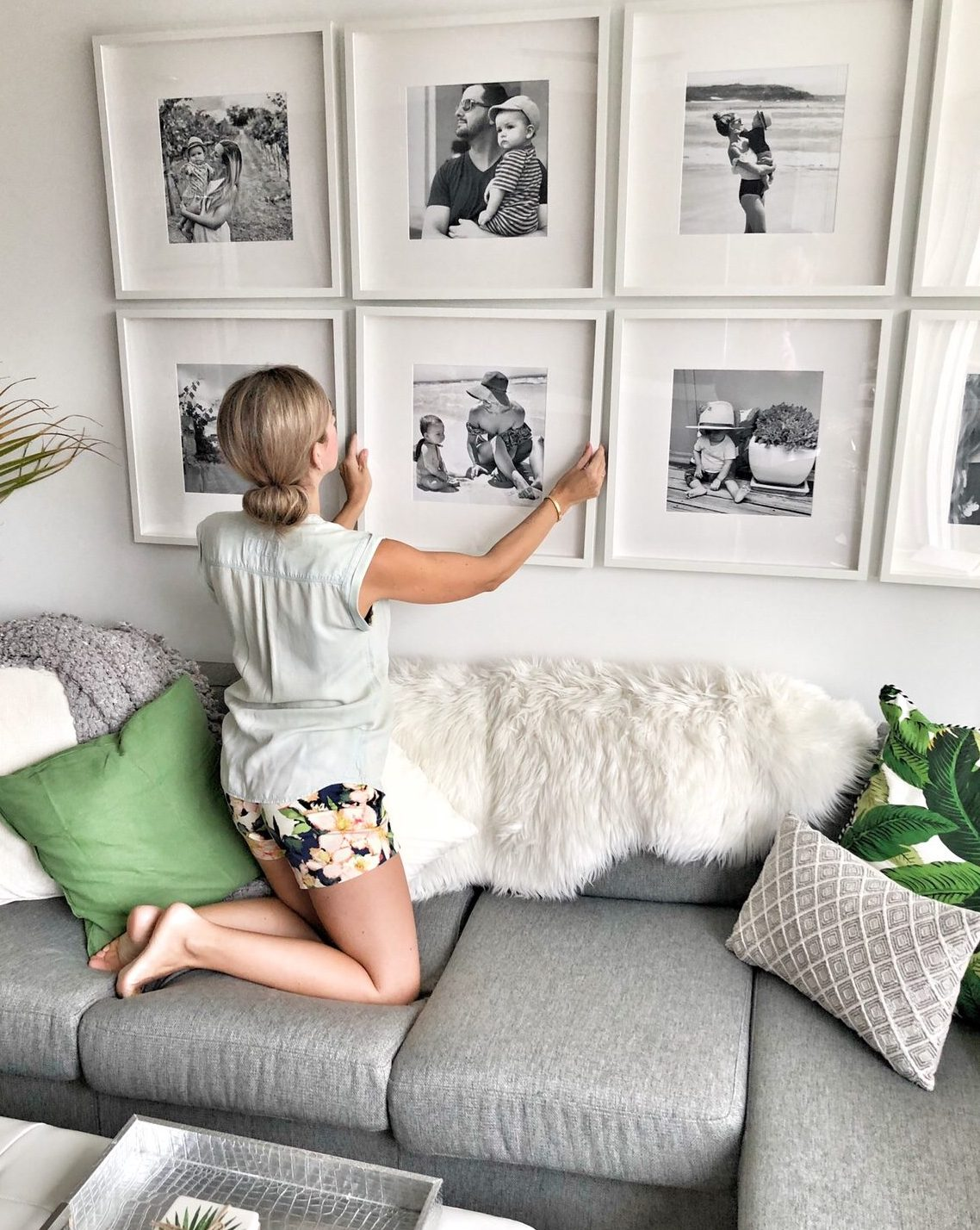 How To Create A Grid Style Gallery Wall Of Family Photos This