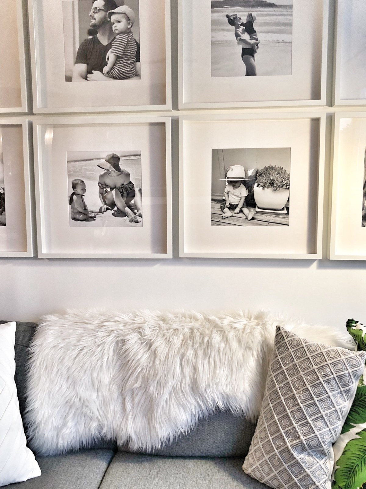 How to DIY Gallery Wall with family portraits