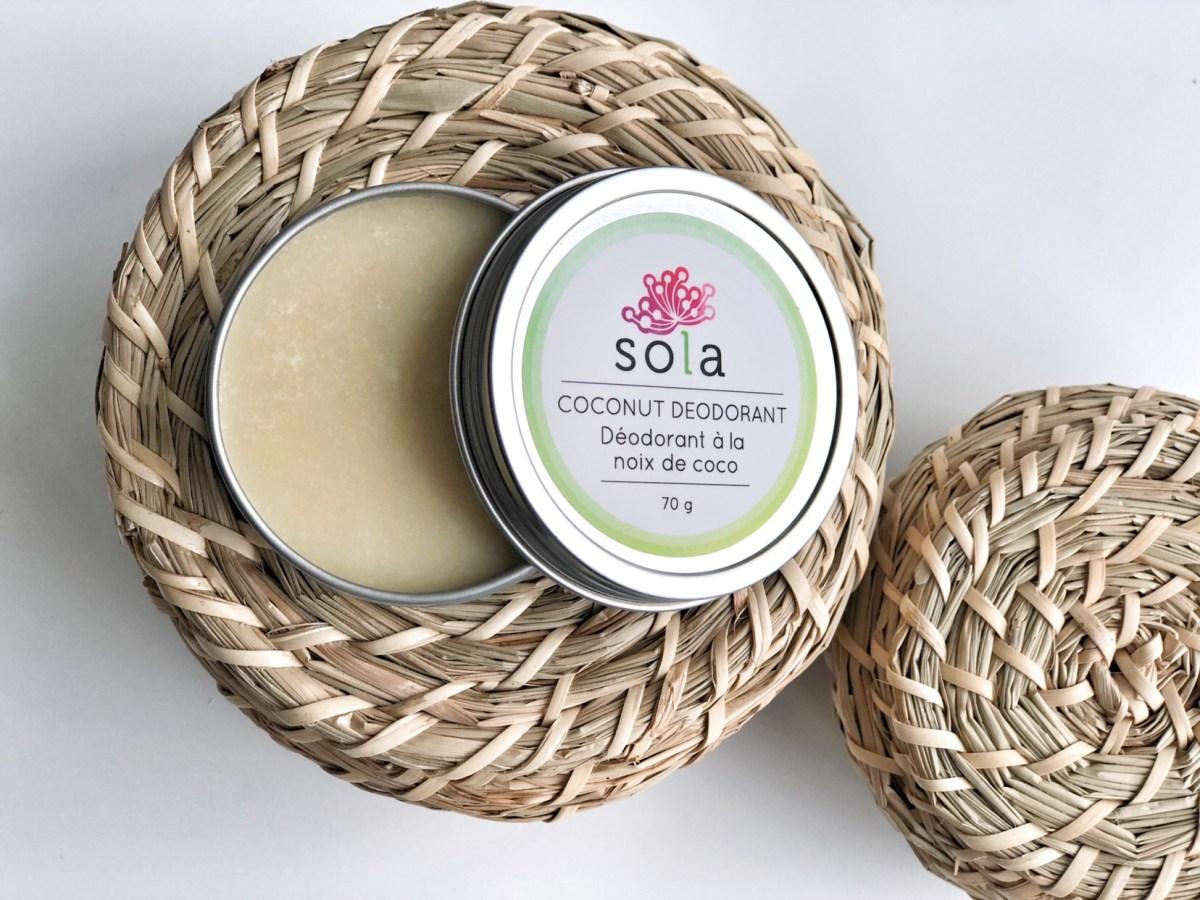 The best natural deodorant - SOLA Coconut deodorant