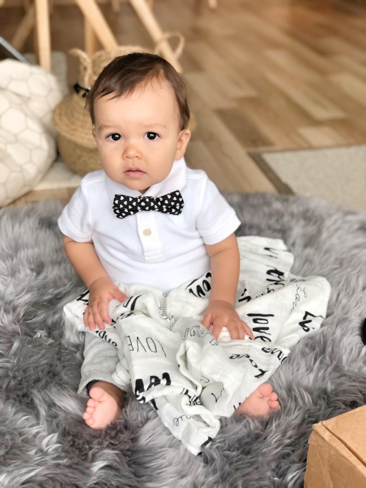 cute baby boy with bowtie