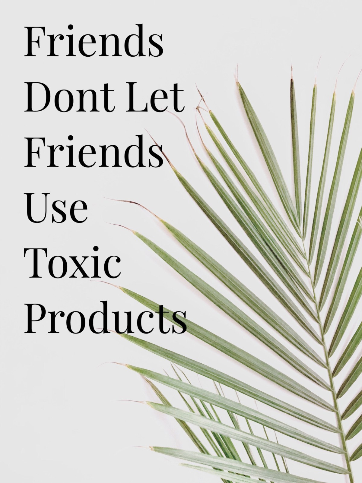 friends dont let friends use toxic products