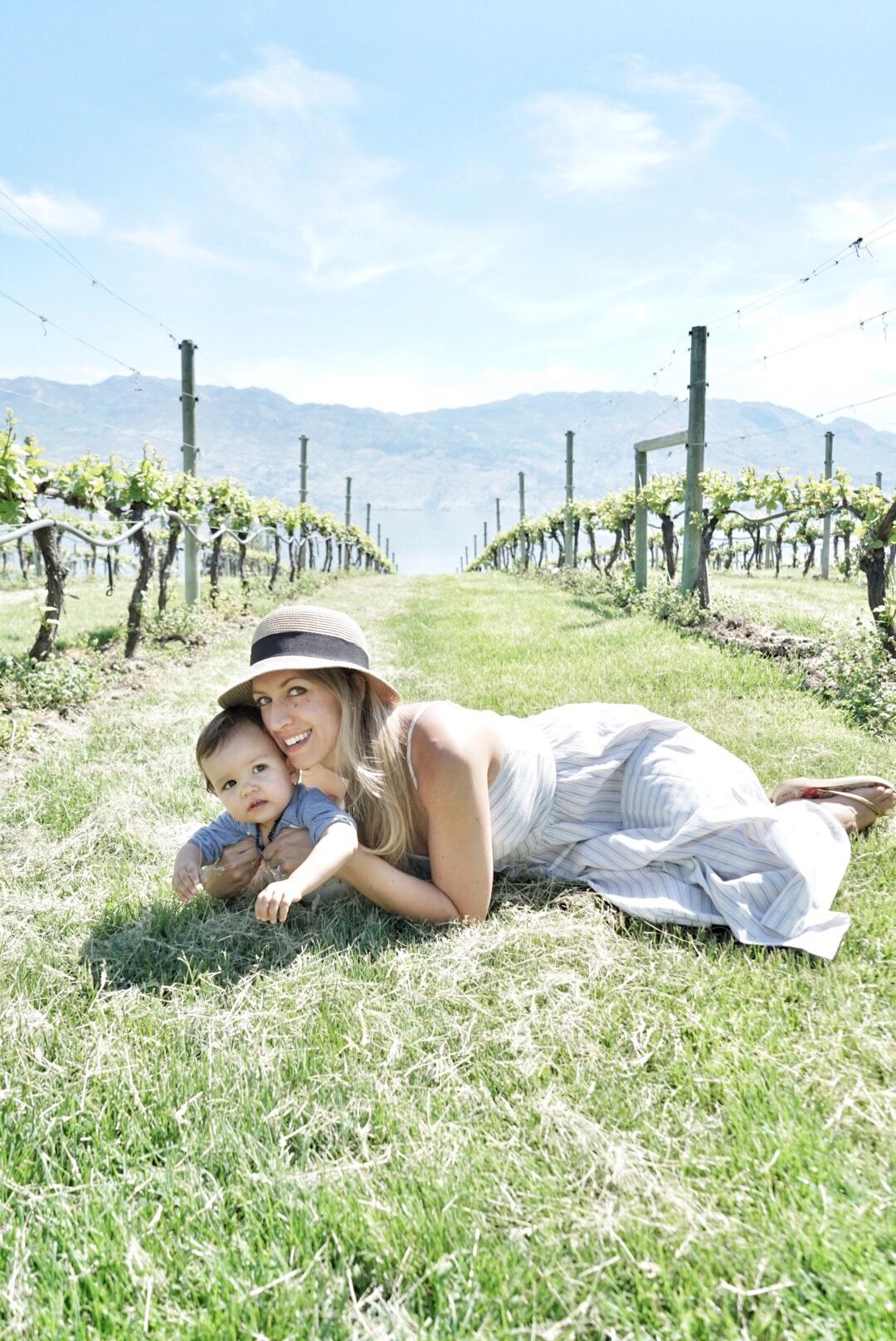mom and baby vineyard photo