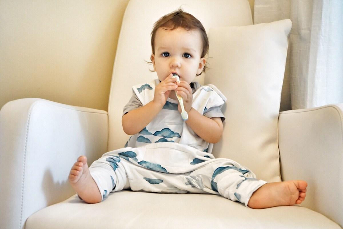 brushing teeth baby