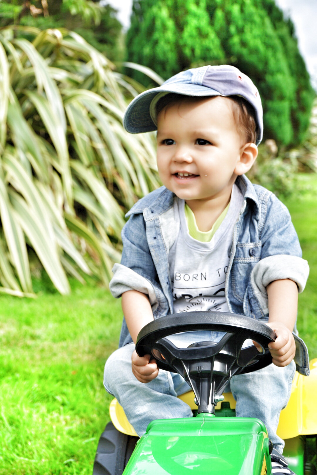 18 month tractor ride