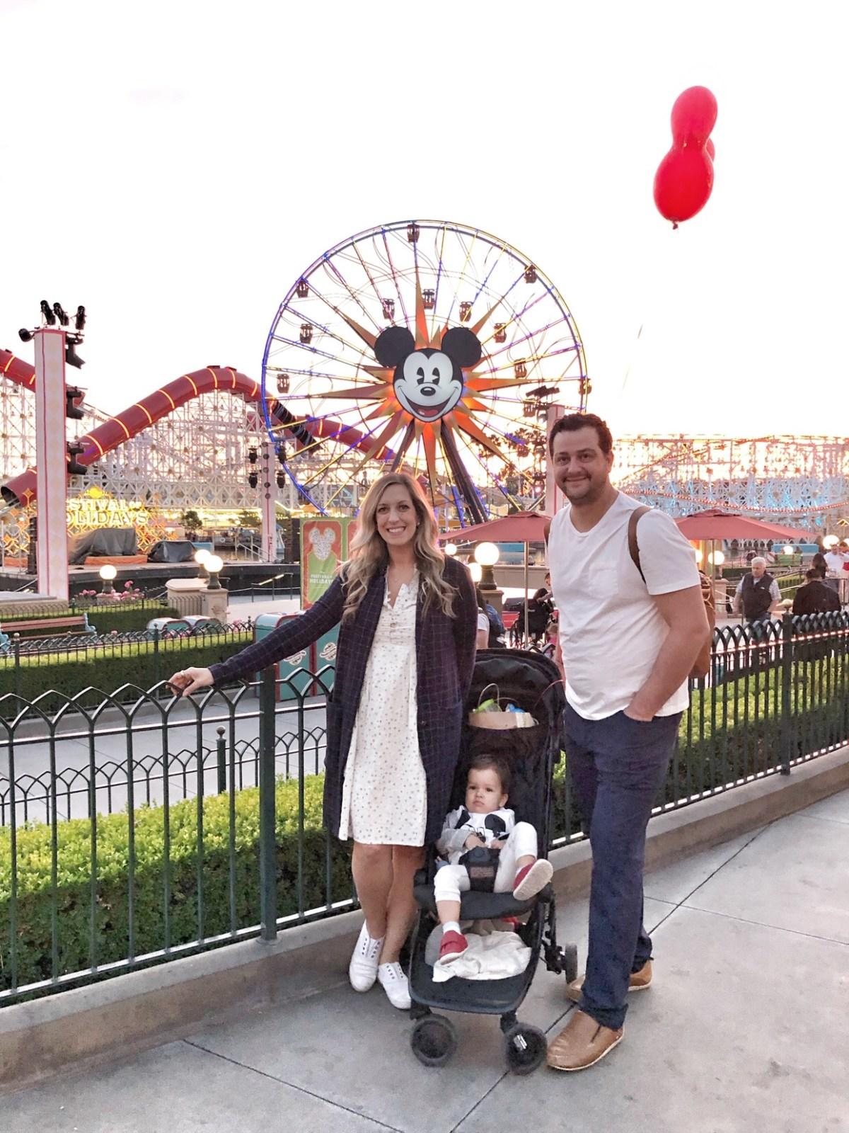 Disneyland at sunset