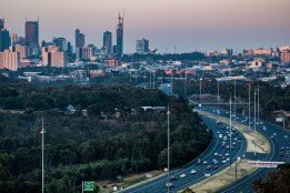 Early morning on the Eastern Freeway