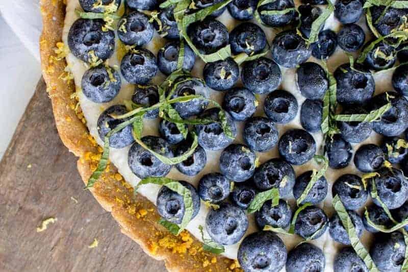 Blueberry Dessert Pizza recipe on @beardandbonnet with @Driscolls