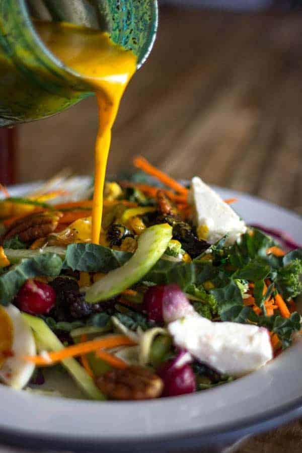 Autumn Cobb Salad with Turmeric Poppy Seed Dressing | Be warned, this salad is addictive! | @beardandbonnet