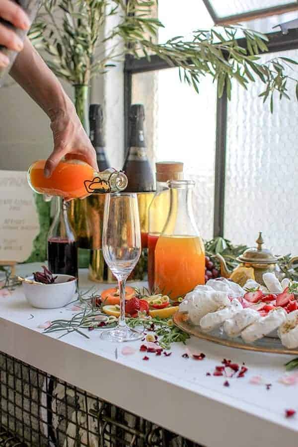 How to Build the Ultimate Champagne Bar for Summer || @thismessisours #glutenfree #vegan #DIY