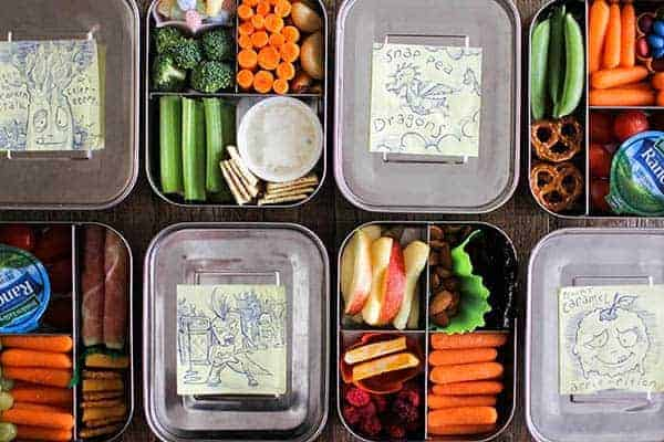 4 Easy Lunch Boxes For Busy Weekday Mornings || @thismessisours #ad @taylorfarms