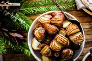hasselback sliced roasted potatoes