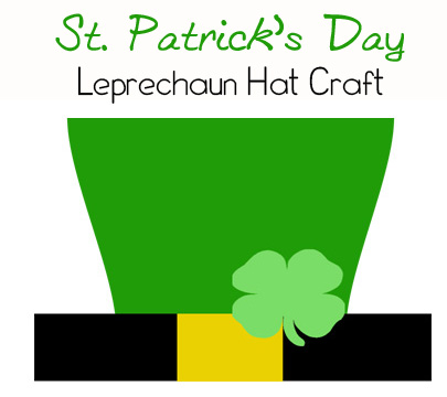 picture relating to Leprechaun Hat Printable identified as St. Patricks Working day Crafts - Leprechaun Hat Printable - This