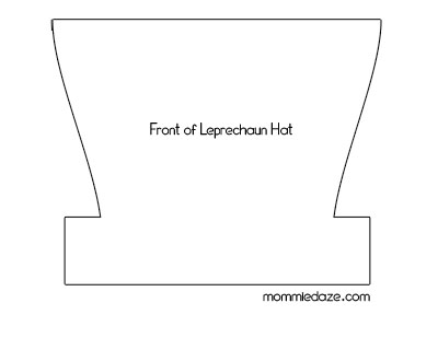photo relating to Leprechaun Hat Printable identified as St. Patricks Working day Crafts - Leprechaun Hat Printable - This
