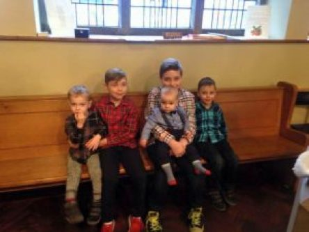 My 5 boys young mum