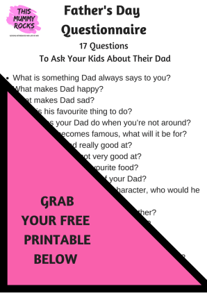 Father's Day Questionnaire IN POST