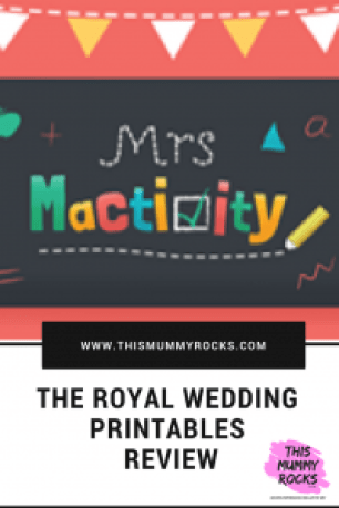 Mrs Mactivity Royal Wedding Printables Review