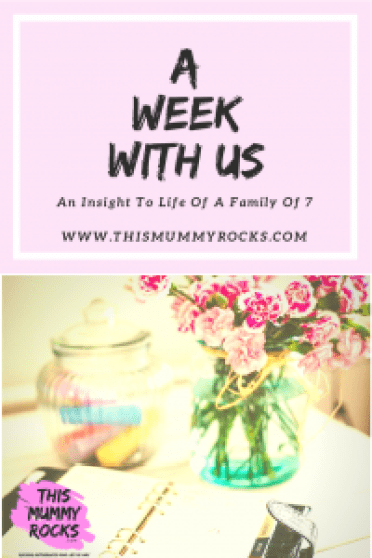 A Week With Us 9th-15th July 2018