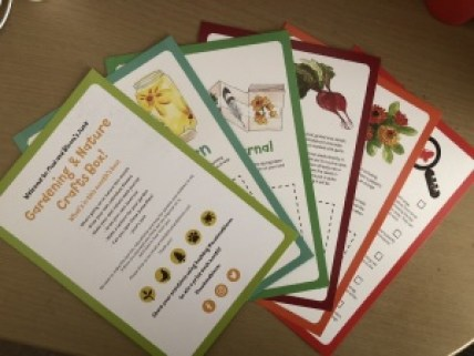 mud and bloom activity cards