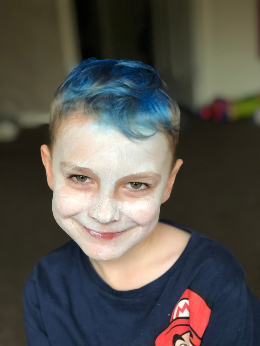 step 1 vampire halloween face paint for kids