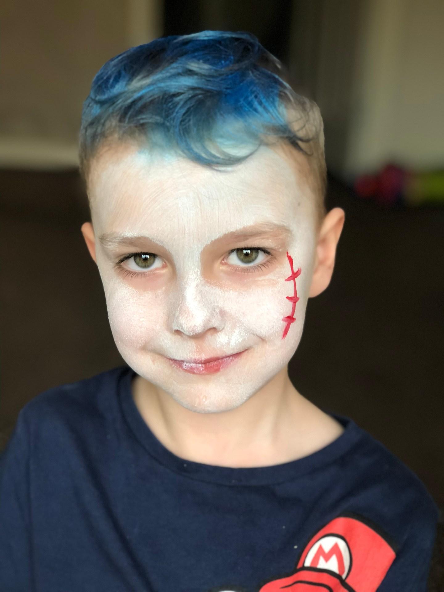 step 2 vampire halloween face paint