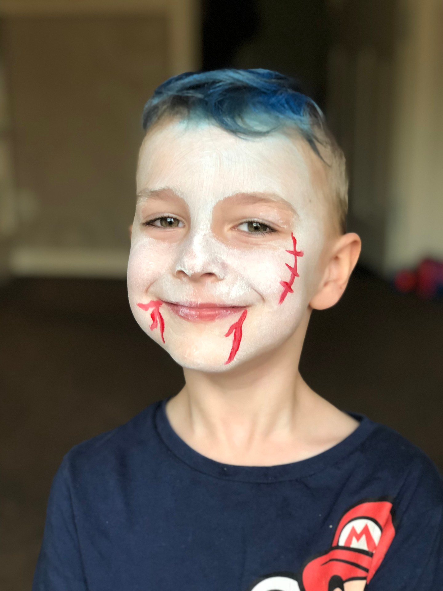 Step 3 vampire halloween face paint