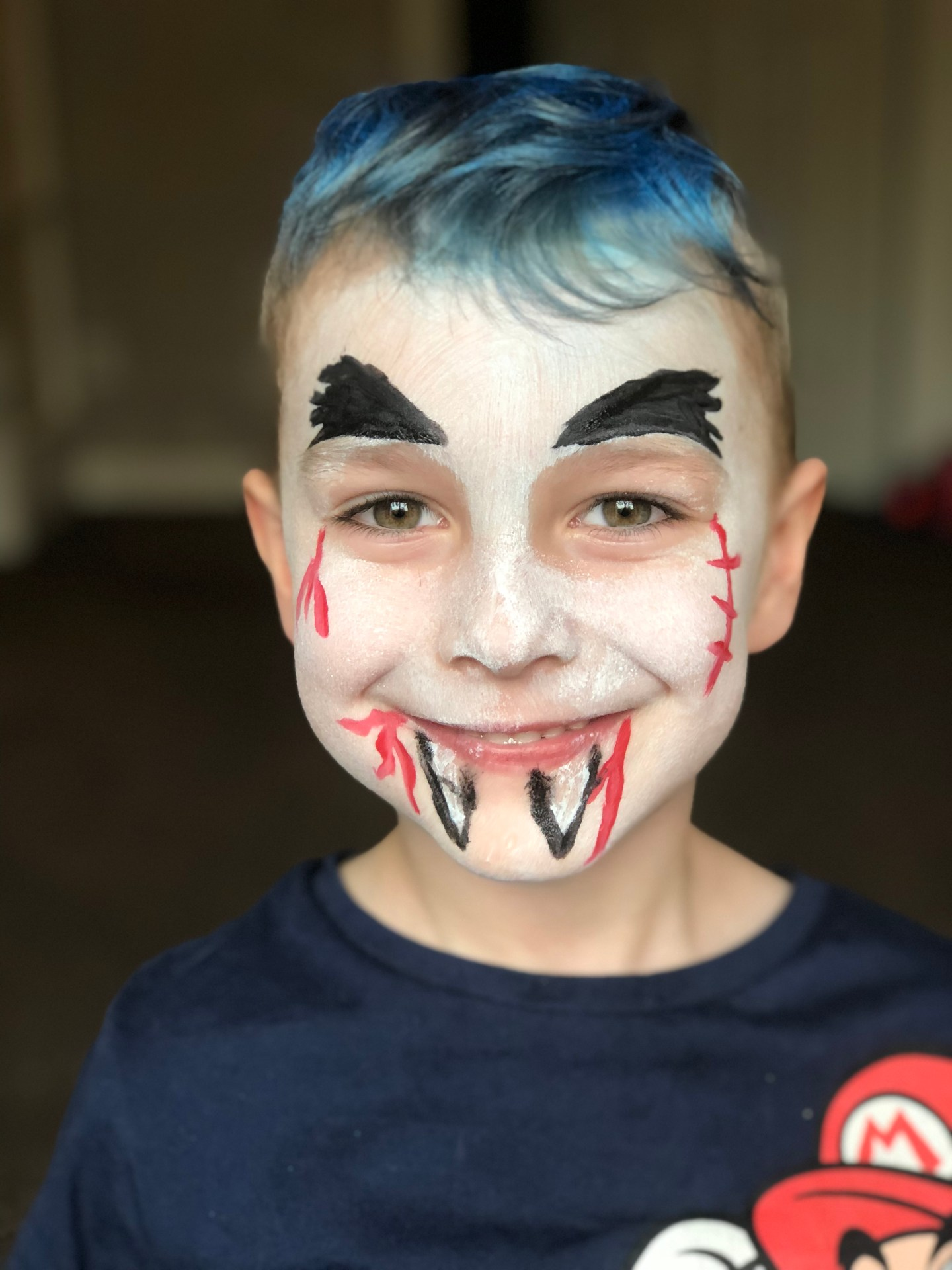 step 5 vampire halloween face paint