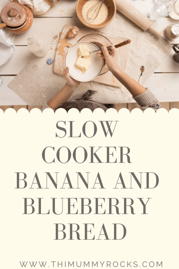 slow cooker banana and blueberry cake / bread recipe