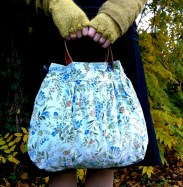 Emma Makes Blue Pixie Bag Thrifted Leather Belt