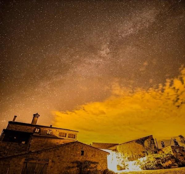 The Milky Way above Mas Casamitjana