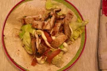 wrap di pollo ricetta