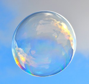 mystical bubble in the light