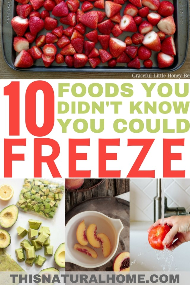 This list of foods you didn't know you could freeze is amazing! It has completely changed how I stock my freezer!