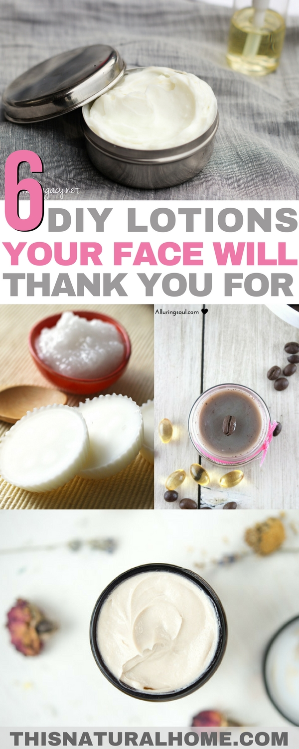 Your face will love you no matter which of these lotions you decide to make! These lotions will help your skin no matter what problem you might be facing.