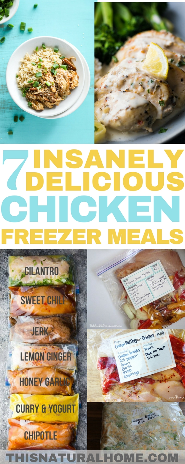 Winner, winner, chicken dinner! You're going to want to make these chicken freezer meals asap! Just pull them out of the freezer and enjoy!
