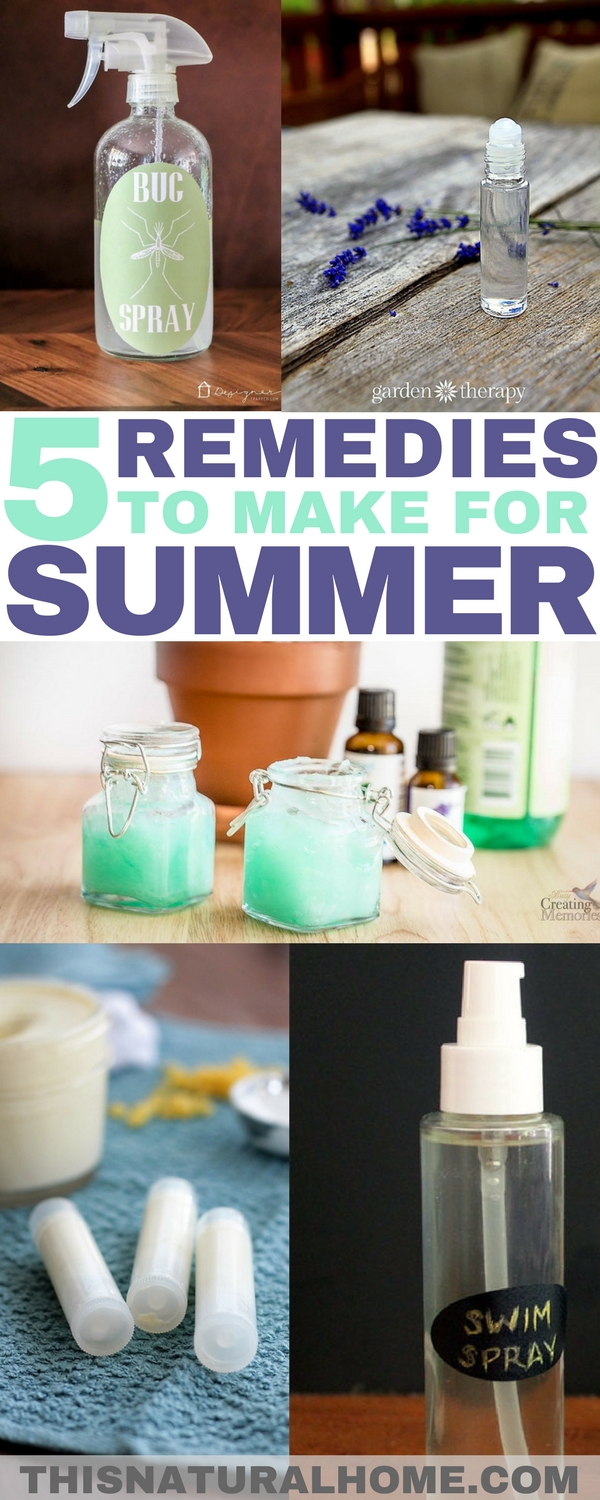 When you make these 5 summer remedies your sunburn will be soothed, your bug bites will be calmed and your hair will not be green!