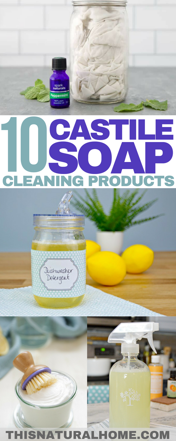 Castile soap has so many uses! And cleaning is one of the best uses! Try making these castile soap cleaning products and see if you agree!