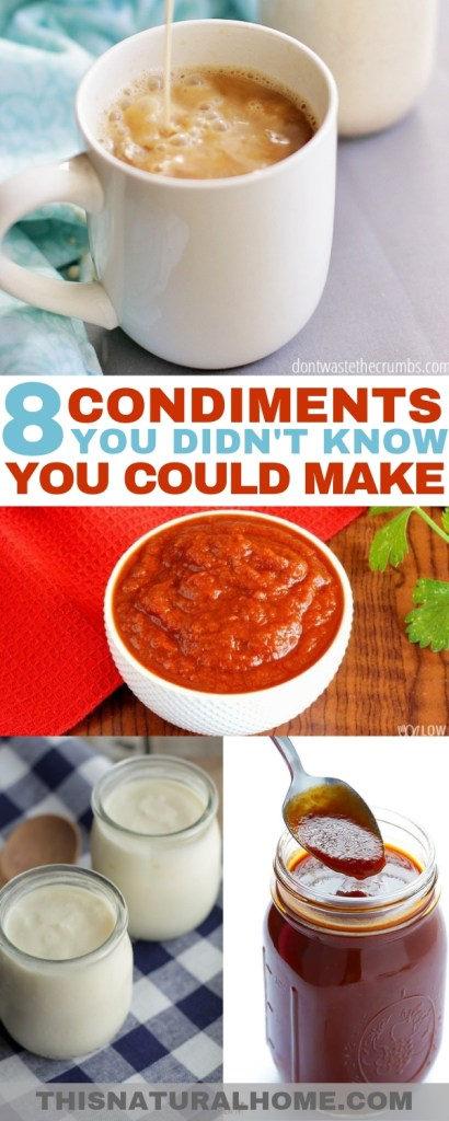 These condiments are so easy to make you'll wonder why you've never made them before! Having control over the ingredients is a double win!