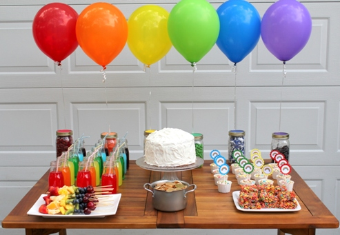 Rainbow Dessert Table  This Nest is Best