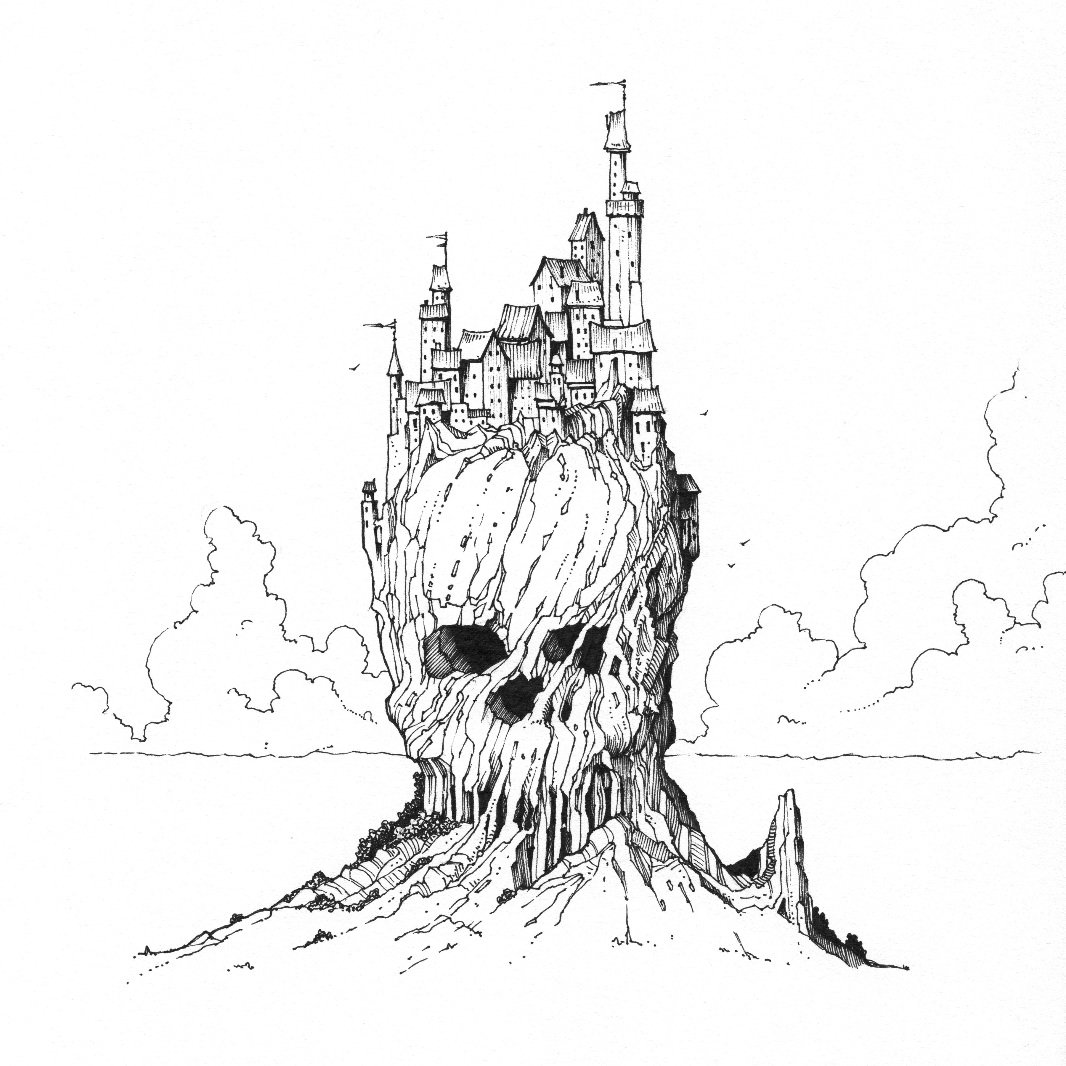 Skull City. Latest illustration isn't a happy place to