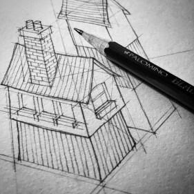 Sketching.