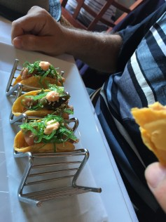 mini tacos on Liberty Island, NJ