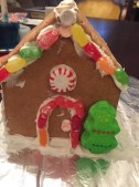 front view of this year's gingerbread house