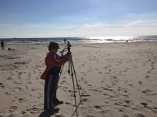 tripod at the beach