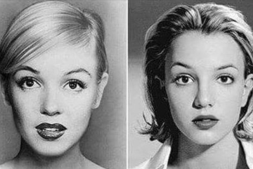 Britney Spears and Marilyn Monroe