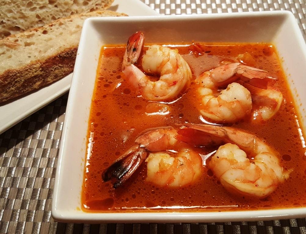 Pressure Cooker Copycat Killer Shrimp and Sourdough Bread