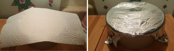 Paper Towel and then Foil