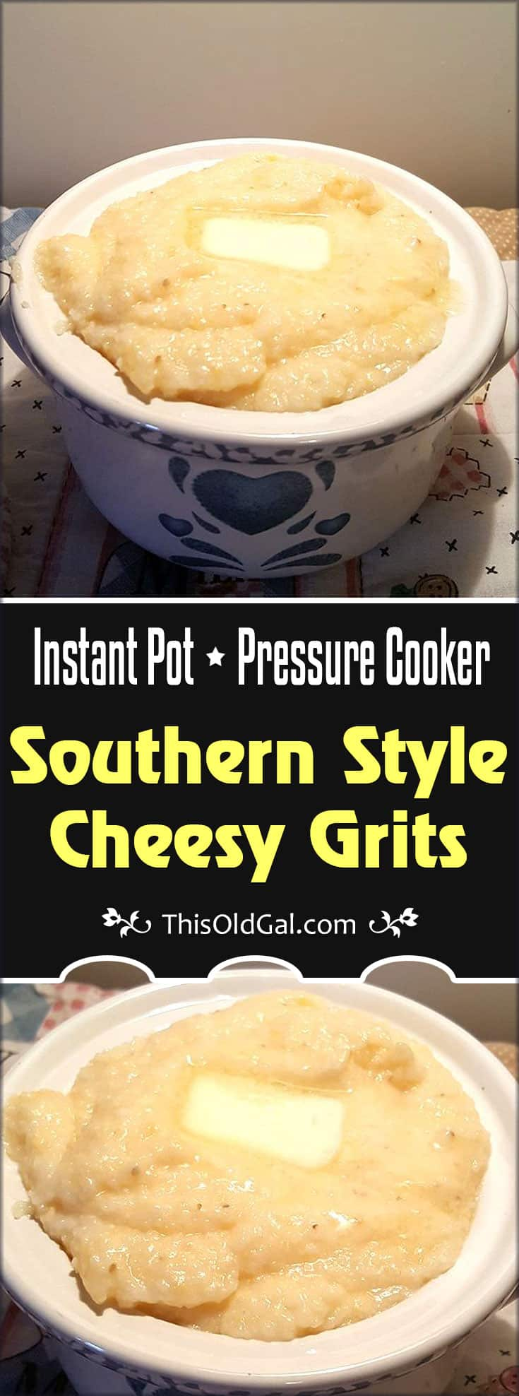 Pressure Cooker Southern Style Cheesy Grits