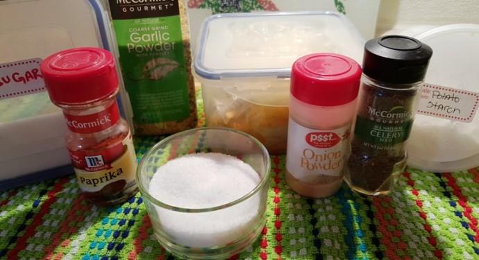 Cast of Ingredients or This Old Gal Seasoned Salt